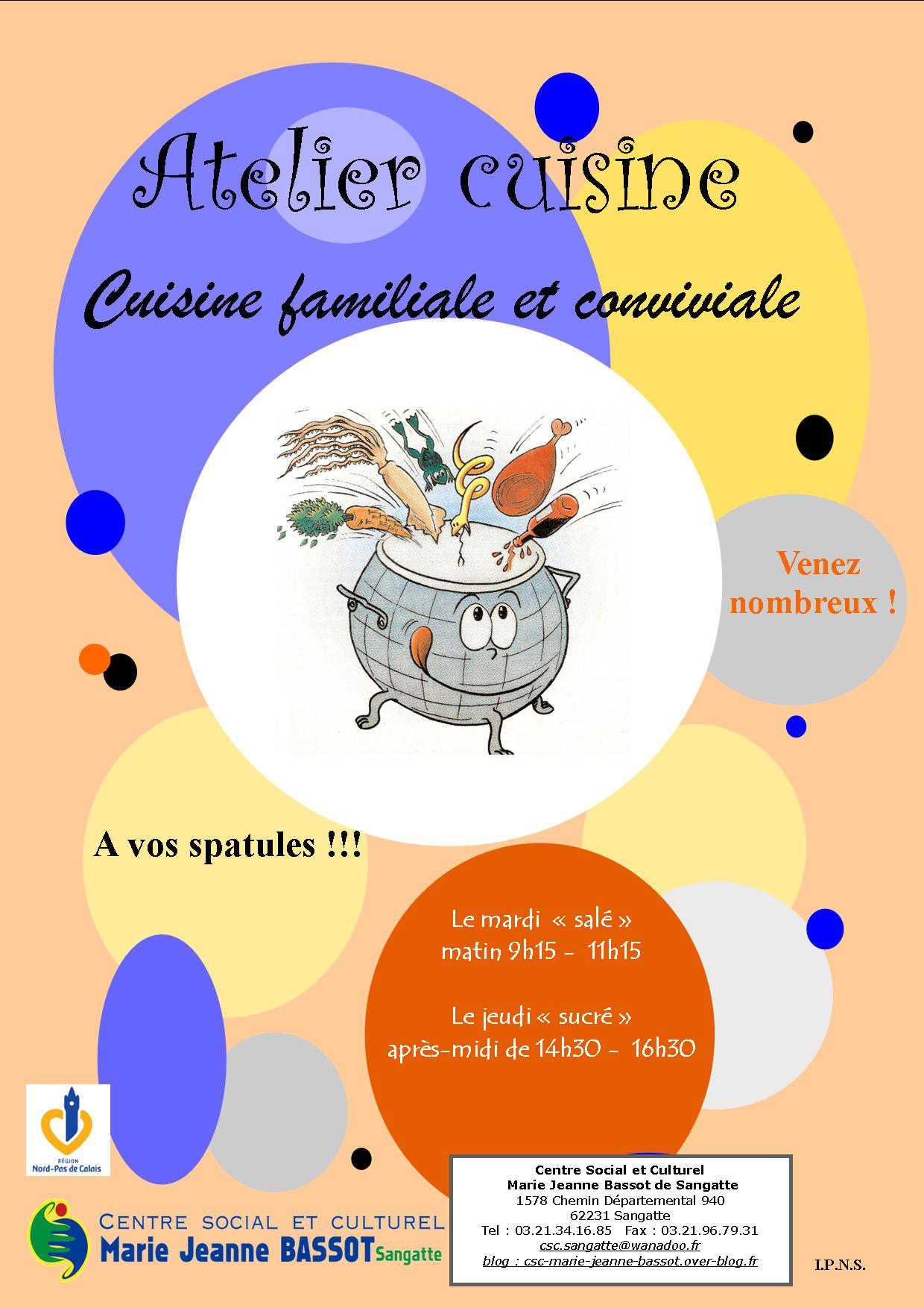 affiche atelier cuisine pictures