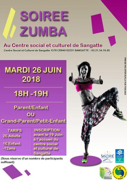 Soirée zumba parents-enfants @ Centre Social et Culturel de Sangatte   Sangatte   Hauts-de-France   France